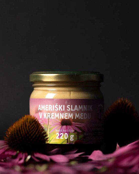 Ameriški slamnik v kremnem medu